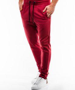 Raudonos sportinės kelnės vyrams internetu pigiau P866 14291