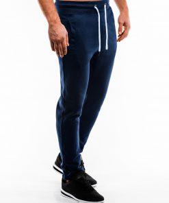 Tamsiai mėlynos sportinės kelnės vyrams internetu pigiau P866 14293