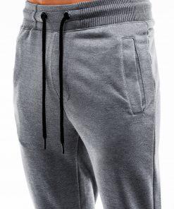 Pilkos-melanžinės treninginės kelnės vyrams internetu pigiau P866 14295-3