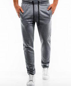 Pilkos-melanžinės sportinės kelnės vyrams internetu pigiau P866 14295
