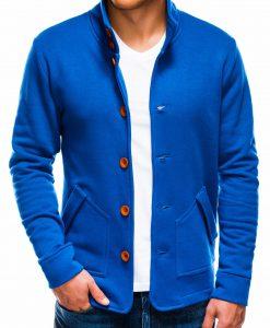 Mėlynos spalvos vyriškas bliuzonas internetu pigiau Carmelo 356-2