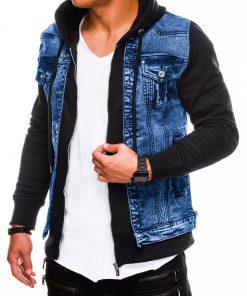 Mėlyna džinsinė vyriška striukė internetu pigiau Jimbim C322 5997-2