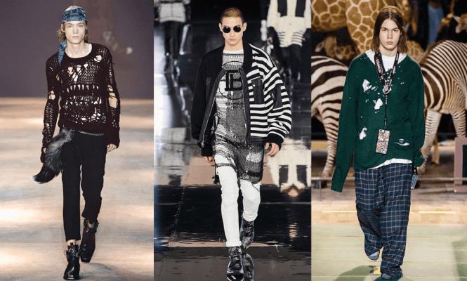 Madingi vyriški rūbai žiemai: Ann Demeulemeester, Balmain, Vetements