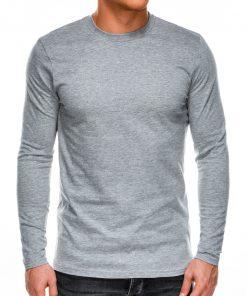 Pilkos spalvos vyriški marškinėliai ilgomis rankovėmis internetu pigiau L118 14301
