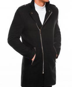 Juodas elegantiškas rudeninis vyriškas puspaltis internetu pigiau C433 14302