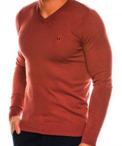 Sodriai rudos spalvos vyriškas megztinis internetu pigiau Ombre E74 14324