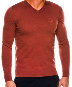 Rudas vyriškas megztinis internetu pigiau Ombre E74 14324-2