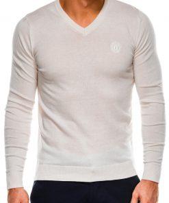 Rusvos spalvos vyriškas megztinis internetu pigiau Ombre E74 14325