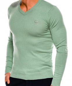 Mėtinės spalvos vyriškas megztinis internetu pigiau Ombre E74 14326