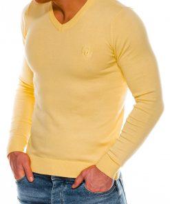 Geltonas vyriškas megztinis internetu pigiau Ombre E74 14327-2