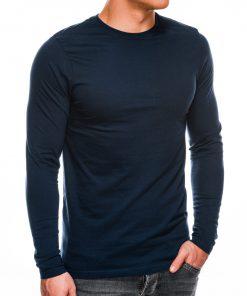 Tamsiai mėlynos spalvos vyriški marškinėliai ilgomis rankovėmis internetu pigiau L118 14329-1