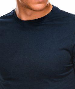 Tamsiai mėlyni vyriški marškinėliai ilgomis rankovėmis internetu pigiau L118 14329-4