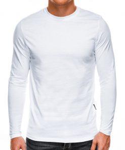 Balti marškinėliai vyrams ilgomis rankovėmis internetu pgiau L118 14331-4