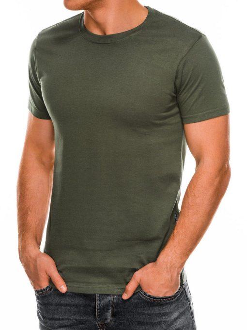 Vienspalviai chaki marškinėliai vyrams internetu pigiau Lak S884 7578-2
