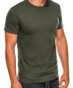 Vienspalviai chaki vyriški marškinėliai internetu pigiau Lak S884 7578