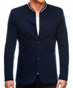 Stilingas tamsiai mėlynas vyriškas švarkas prie džinsų bleizeris Daster M84 8104