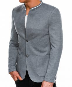 Stilingas pilkas vyriškas švarkas prie džinsų bleizeris internetu pigiau Daster M84 8105