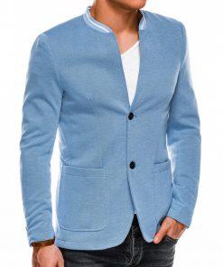 Stilingas šviesiai mėlynas vyriškas švarkas prie džinsų Daster M84 8106