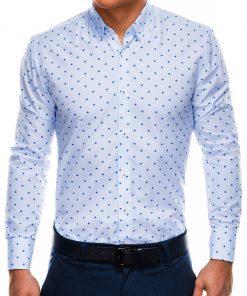 Balti vyriški marškiniai internetu pigiau K463 11491-3