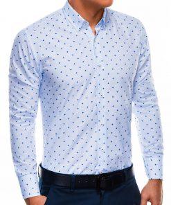 Stilingi balti vyriški marškiniai ilgomis rankovėmis internetu pigiau K463 11491