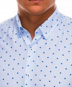 Balti marškiniai vyrams ilgomis rankovėmis internetu pigiau K463 11491-6