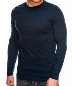 Juodi marškinėliai vyrams ilgomis rankovėmis internetu pigiau L118 14332-3