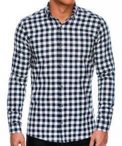 Balti languoti marškiniai vyrams ilgomis rankovėmis internetu pigiau K509 14333