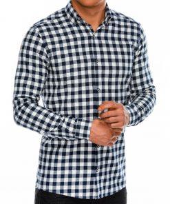 Balti languoti vyriški marškiniai ilgomis rankovėmis internetu pigiau K509 14333-4