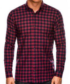 Languoti vyriški marškiniai ilgomis rankovėmis internetu pigiau K509 14334-3