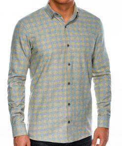 Languoti vyriški marškiniai ilgomis rankovėmis internetu pigiau K509 14335-2