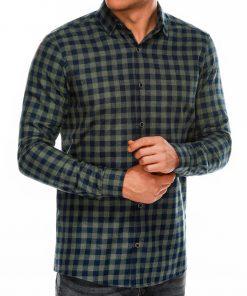 Languoti vyriški marškiniai ilgomis rankovėmis internetu pigiau K509 14336-2