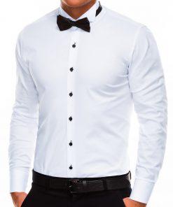 Balti vyriški marškiniai vyrams su peteliške internetu pigiau Muse K309 2921