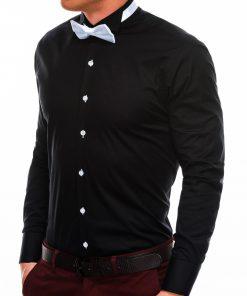 Juodi marškiniai vyrams su peteliške internetu pigiau K309 2923-1