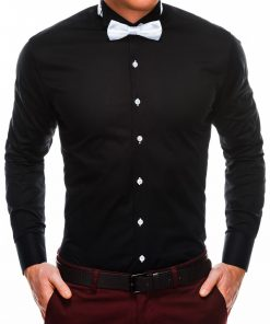 Juodi vyriški marškiniai su peteliške internetu pigiau K309 2923
