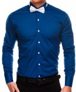 Tamsiai mėlynivyriški marškiniai su peteliške internetu pigiau K309 2924