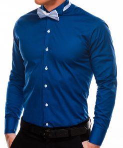 Mėlyni marškiniai vyrams su peteliške internetu pigiau K309 2924-2