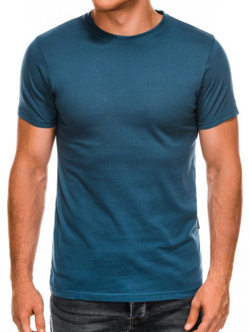 Vienspalviai mėlyni marškinėliai vyrams internetu pigiau Lak S884 7574