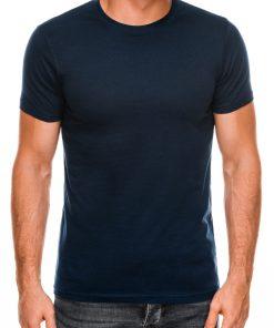 Vienspalviai tamsiai mėlyni marškinėliai vyrams internetu pigiau Lak S884 7575-1