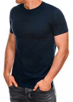 Vienspalviai tamsiai mėlyni vyriški marškinėliai internetu pigiau Lak S884 7575