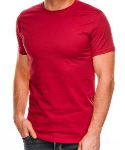 Vienspalviai raudoni marškinėliai vyrams internetu pigiau Lak S884 7576