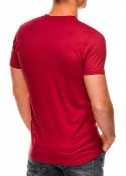 Raudoni vyriski marskineliai internetu pigiau Lak S884 7576-4