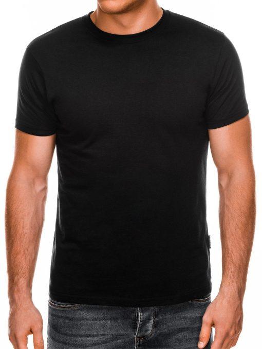Vienspalviai juodi marškinėliai vyrams internetu pigiau Lak S884 7579