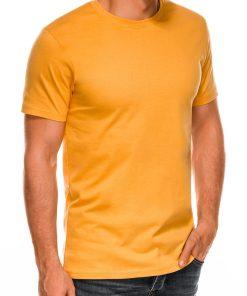 Vienspalviai geltoni vyriski marskineliai internetu pigiau Lak S884 7580-2
