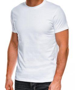 Vienspalviai balti vyriški marškinėliai internetu pigiau Lak S884 7583