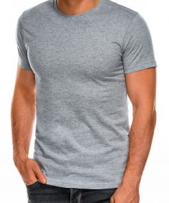 Vienspalviai pilki marškinėliai vyrams internetu pigiau Lak S884 7584