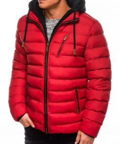 Raudona rudeninė-pavasarinė vyriška striukė internetu pigiau Uffo C384 10565
