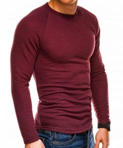 Tamsiai raudonas vyriškas megztinis internetu pigiau B1021 14358