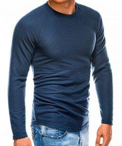 Tamsiai mėlynas vyriškas megztinis internetu pigiau B1021 14360