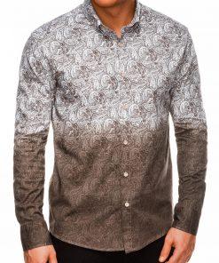 Marginti vyriški marškiniai ilgomis rankovėmis internetu pigiau K513 14372
