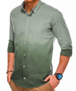 Stilingi marškiniai vyrams ilgomis rankovėmis internetu pigiau K514 14375-6